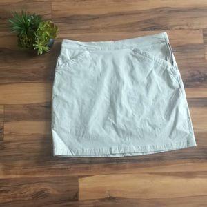 Eddie Bauer Tan/Khaki Nylon Skort